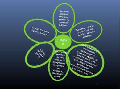 Задачи Изучить что такое пищевые добавки. Провести опрос и изучить мнение люд...