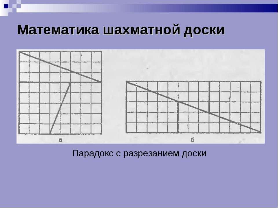 Математика шахматной доски Парадокс с разрезанием доски