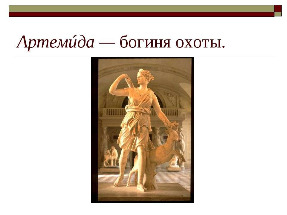 Артемúда— богиня охоты.
