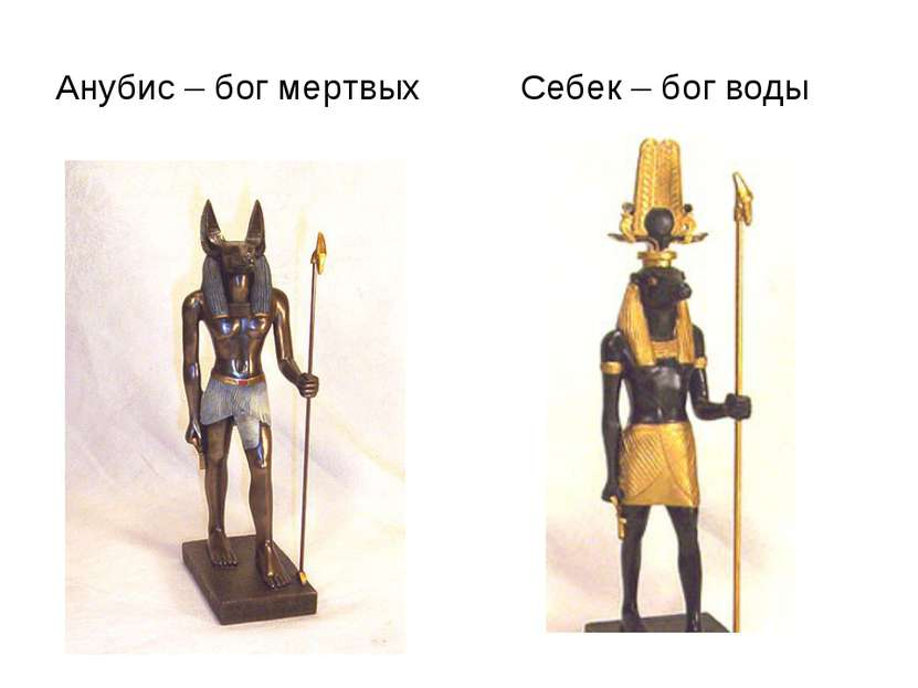 Анубис – бог мертвых Себек – бог воды