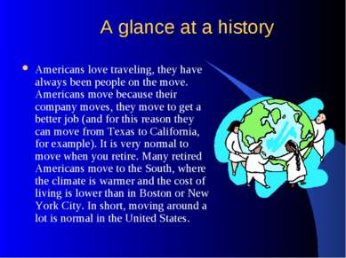 A glance at a history Americans love traveling, they have always been people ...