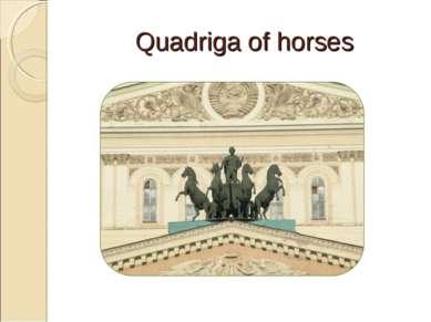 Quadriga of horses