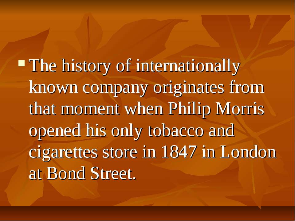 The history of internationally known company originates from that moment when...