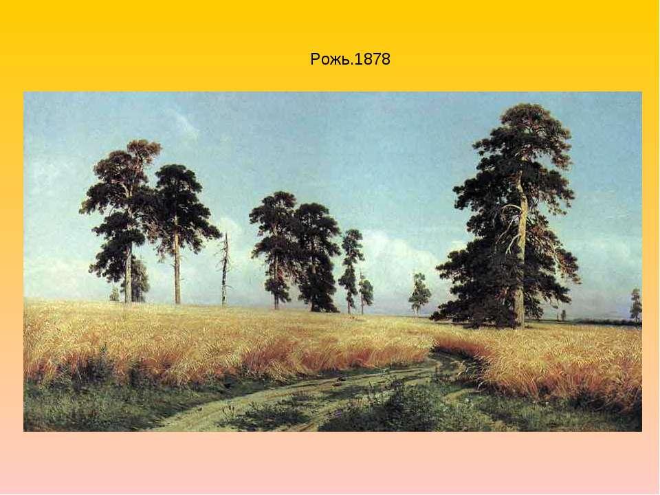 Рожь.1878