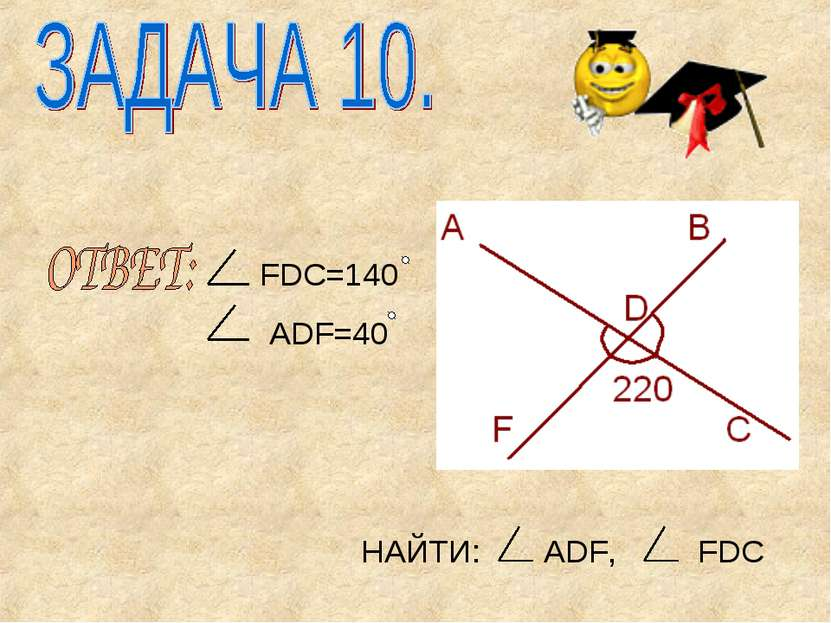 НАЙТИ: ADF, FDC FDC=140 ADF=40