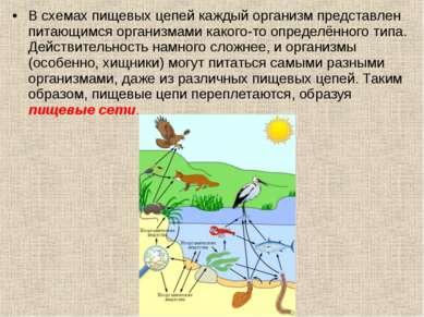 В схемах пищевых цепей каждый организм представлен питающимся организмами как...