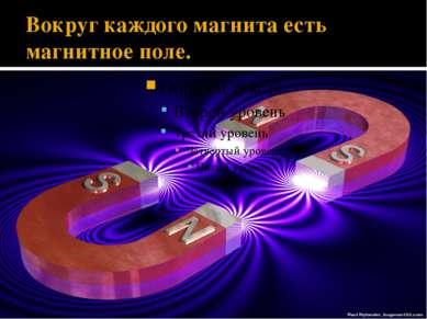 Вокруг каждого магнита есть магнитное поле.