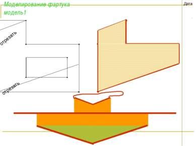 Моделирование фартука модель1 Дата отрезать отрезать