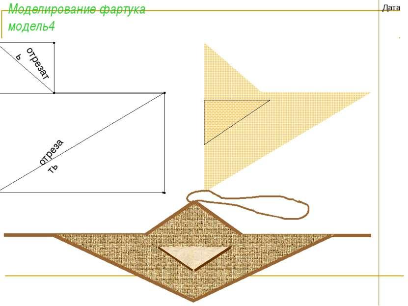 Моделирование фартука модель4 Дата отрезать отрезать