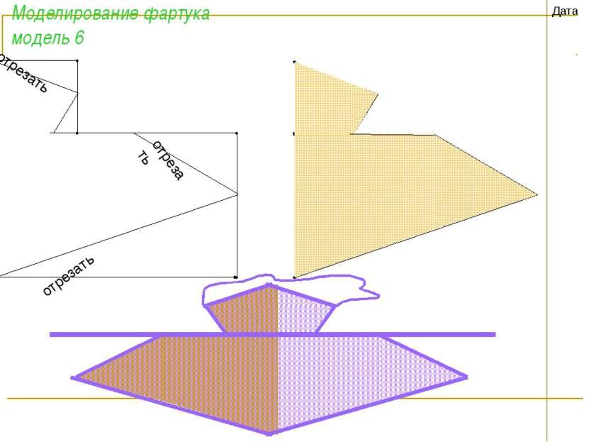 Моделирование фартука модель 6 Дата отрезать отрезать отрезать