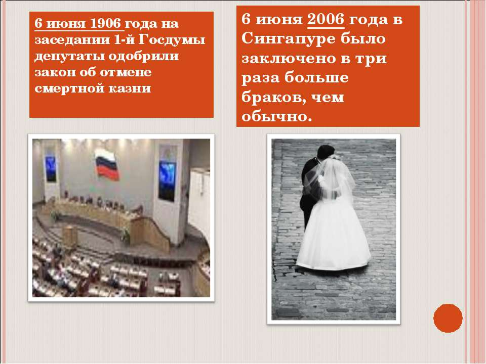 6 июня 1906 года на заседании 1-й Госдумы депутаты одобрили закон об отмене с...