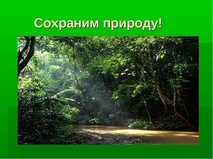 Сохраним природу!