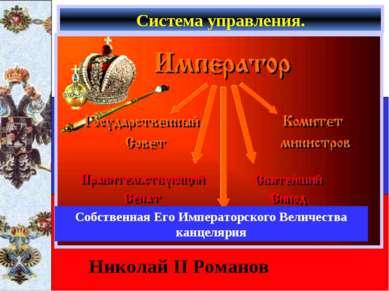 Система управления. Николай II Романов Собственная Его Императорского Величес...