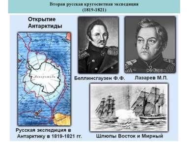 Лазарев Михаил Петрович Вторая русская кругосветная экспедиция (1819-1821) Бе...