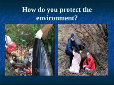 How do you protect the environment?