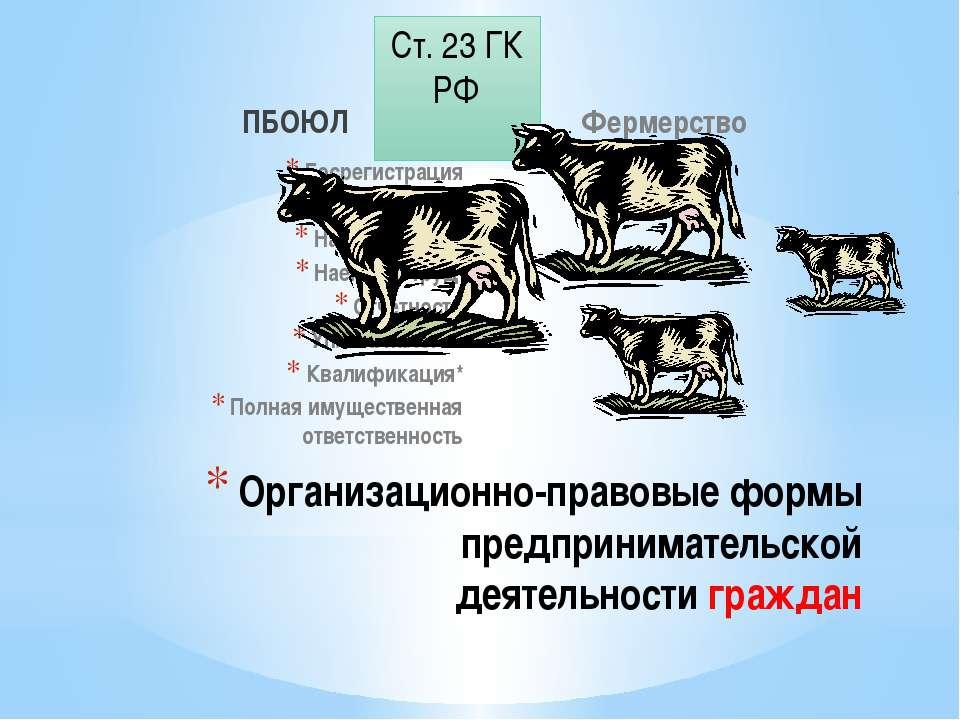 ПБОЮЛ Госрегистрация Товарный знак Наименование Наемный труд Отчетность Уплат...