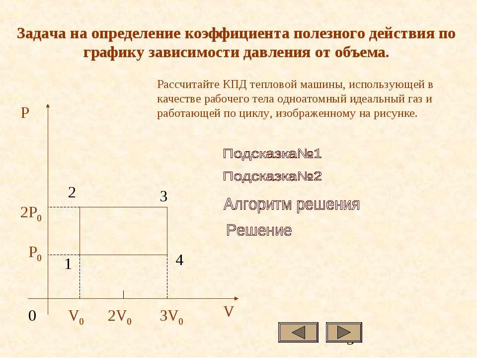 Задача на определение коэффициента полезного действия по графику зависимости ...