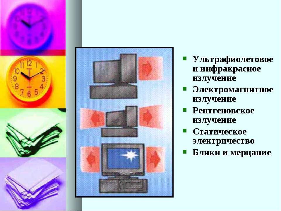 Ультрафиолетовое и инфракрасное излучение Электромагнитное излучение Рентгено...