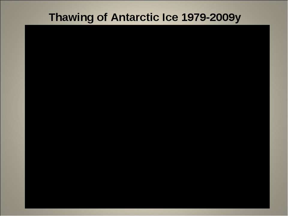 Thawing of Antarctic Ice 1979-2009y