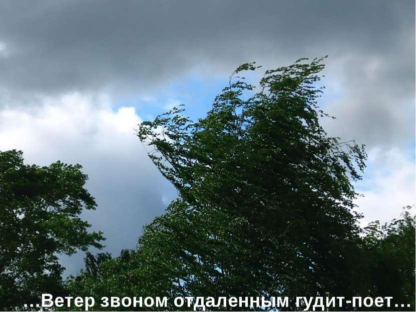 …Ветер звоном отдаленным гудит-поет…