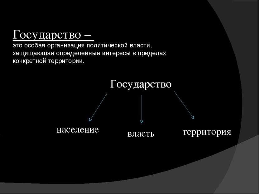 Государство – это особая организация политической власти, защищающая определе...