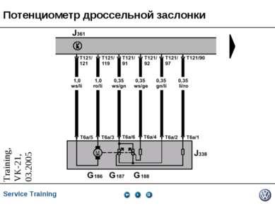 Потенциометр дроссельной заслонки Service Training *