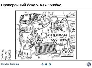 Проверочный бокс V.A.G. 1598/42 Service Training *