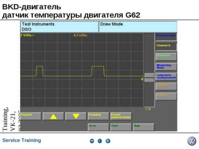 BKD-двигатель датчик температуры двигателя G62 Service Training *
