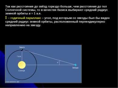 Так как расстояния до звёзд гораздо больше, чем расстояния до тел Солнечной с...