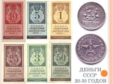 ДЕНЬГИ СССР 20-30 ГОДОВ