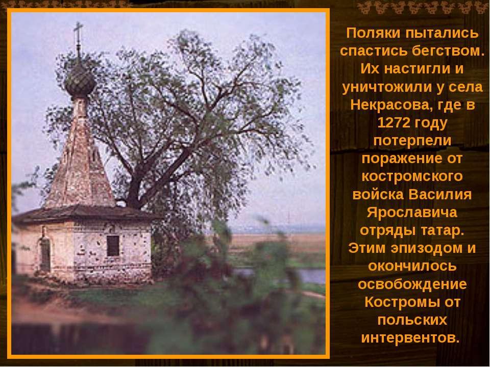 Поляки пытались спастись бегством. Их настигли и уничтожили у села Некрасова,...