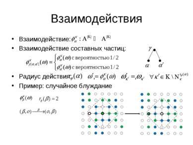 Взаимодействия Взаимодействие: Взаимодействие составных частиц: Радиус действ...