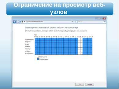 Ограничение на просмотр веб-узлов