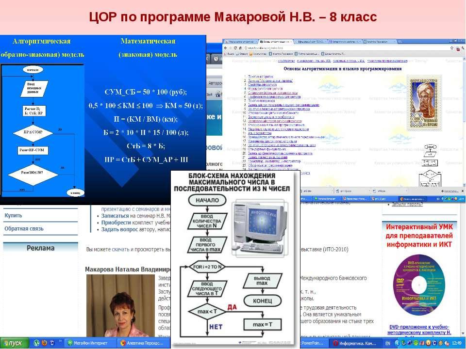 ЦОР по программе Макаровой Н.В. – 8 класс