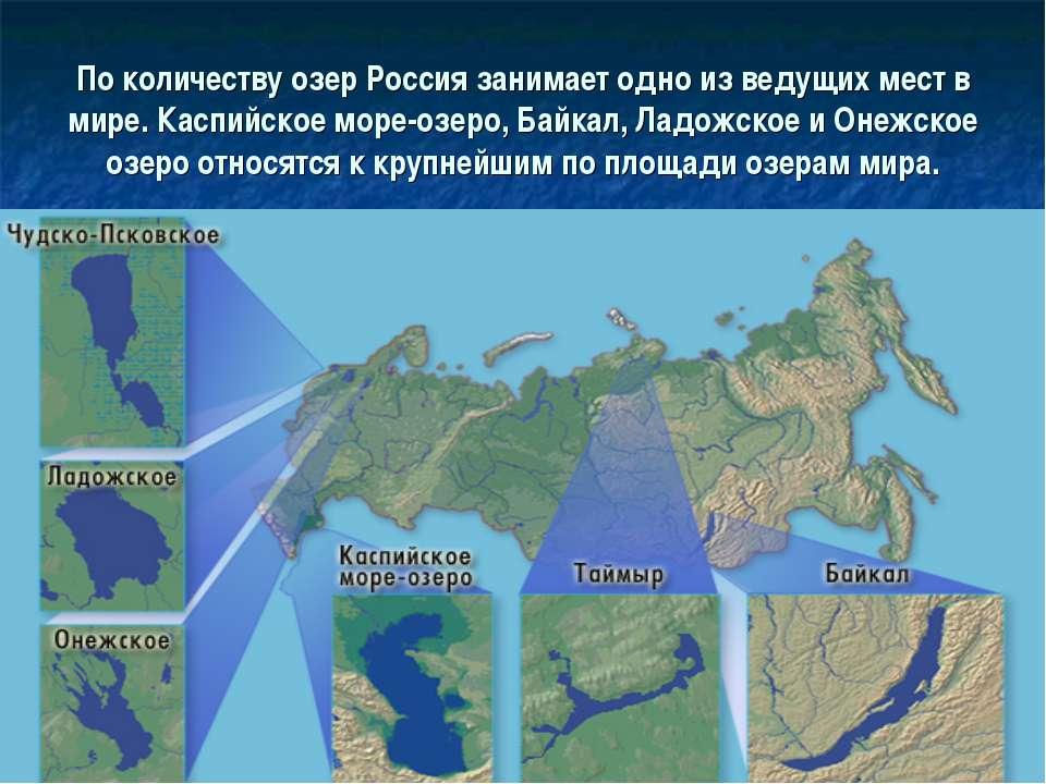 По количеству озер Россия занимает одно из ведущих мест в мире. Каспийское мо...