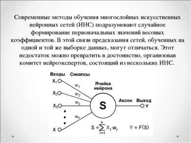 Современные методы обучения многослойных искусственных нейронных сетей (ИНС) ...