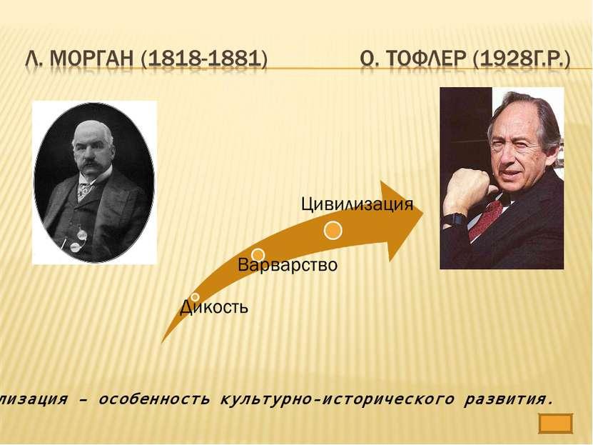 Цивилизация – особенность культурно-исторического развития.
