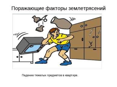 Поражающие факторы землетрясений Падение тяжелых предметов в квартире.