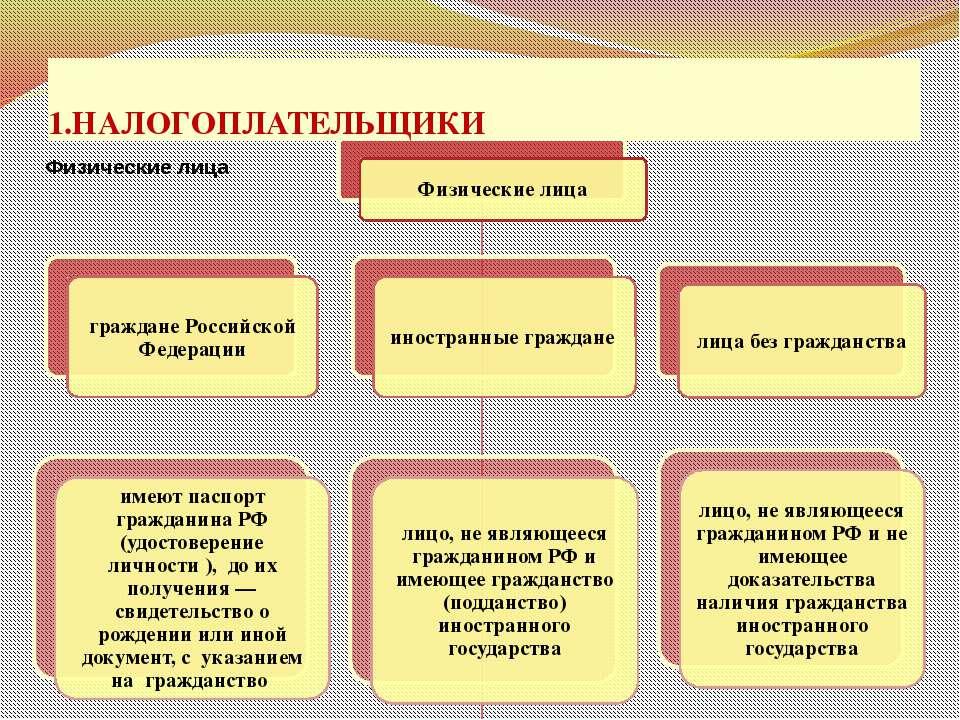1.НАЛОГОПЛАТЕЛЬЩИКИ проф. д.э.н. Селезнева Н.Н.