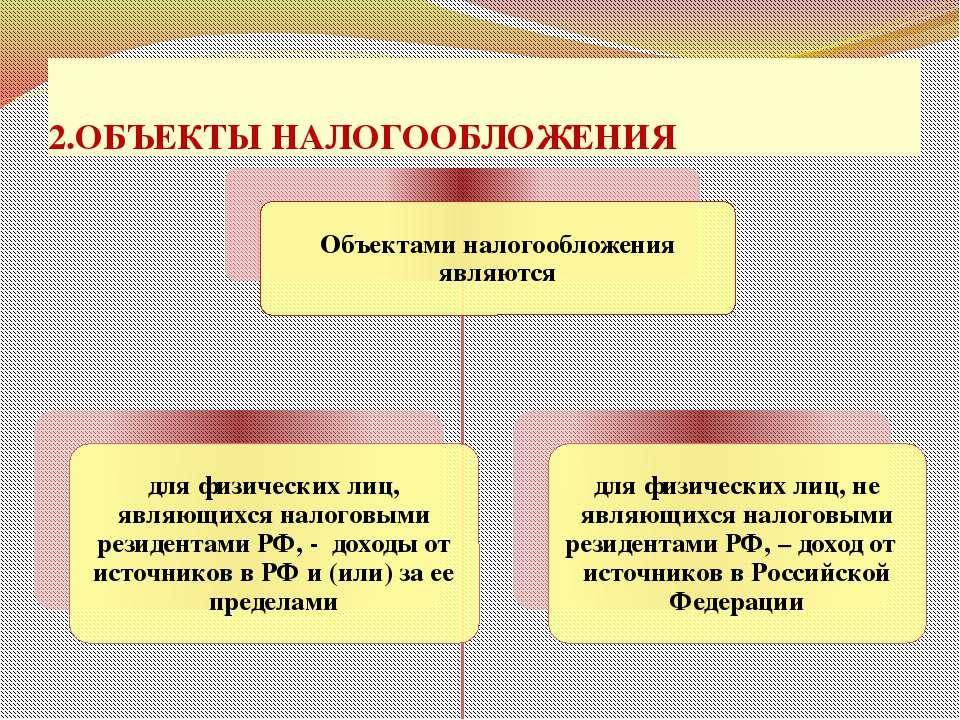 2.ОБЪЕКТЫ НАЛОГООБЛОЖЕНИЯ проф. д.э.н. Селезнева Н.Н.