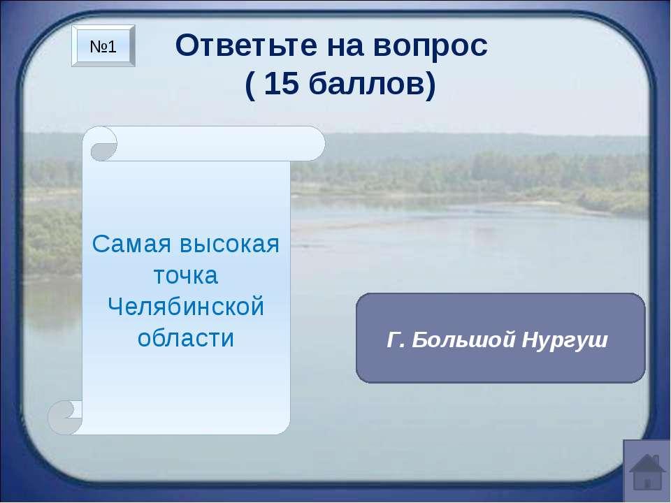 Ответьте на вопрос ( 15 баллов) Самый длинный хребет области Уреньга №2