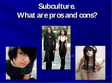 Subculture. What are pros and cons?