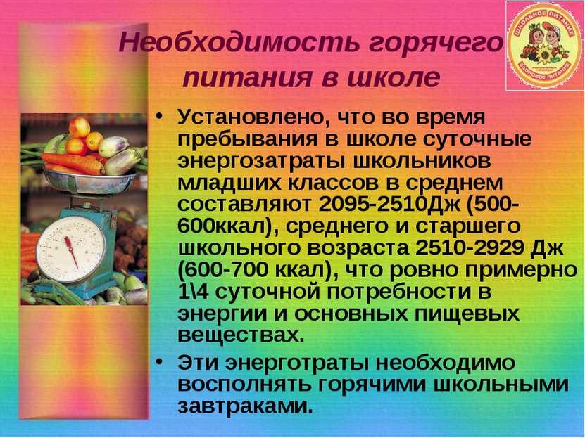 необходимость здорового питания