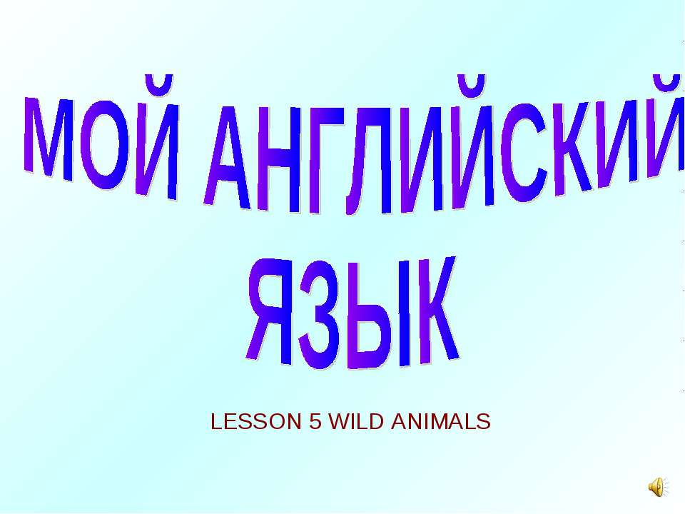 LESSON 5 WILD ANIMALS