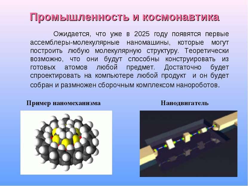 Промышленность и космонавтика Ожидается, что уже в 2025 году появятся первые ...