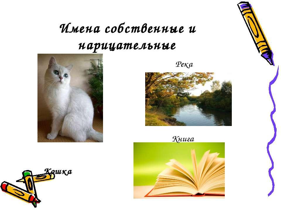 Имена собственные и нарицательные Кошка Река Книга