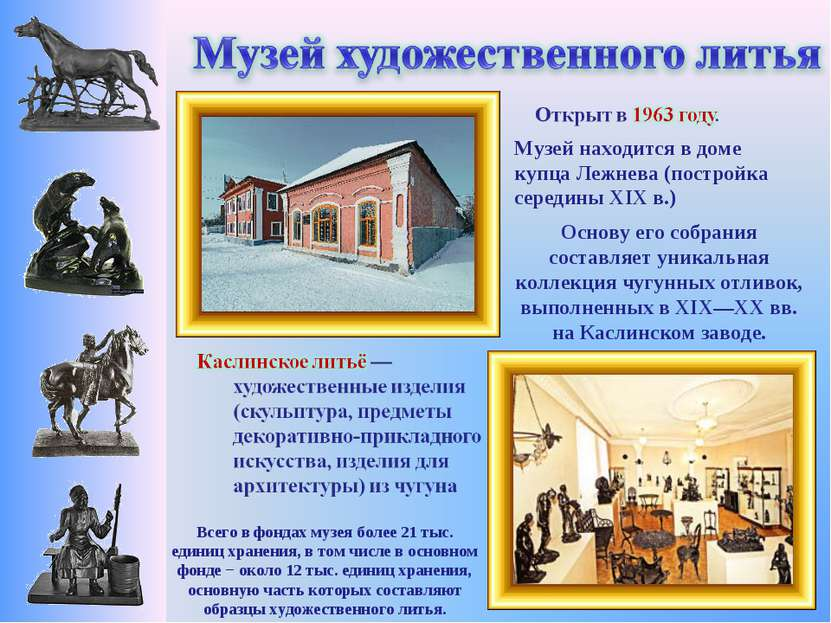 Музей находится в доме купца Лежнева (постройка середины XIX в.) Всего в фонд...