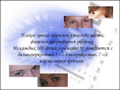 Плохое зрение снижает качество жизни, физического развития ребенка. Из каждых...