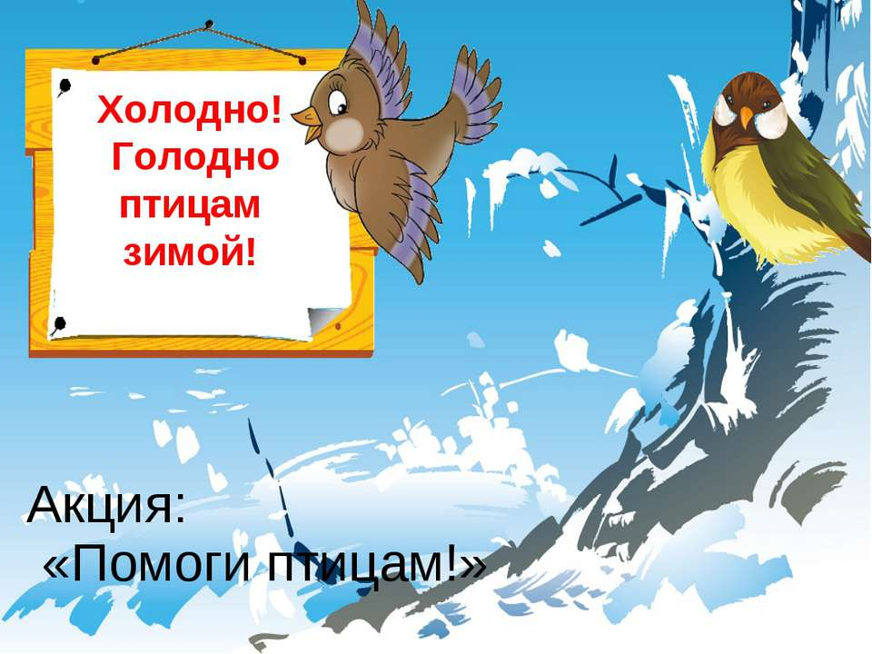 Холодно! Голодно птицам зимой! Акция: «Помоги птицам!»
