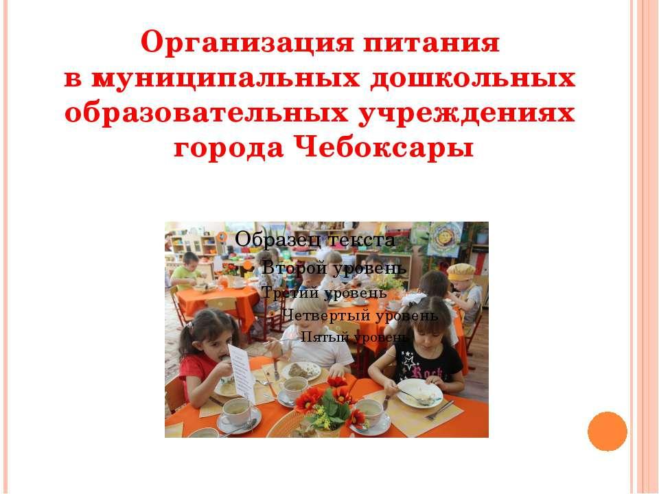 Организация питания в муниципальных дошкольных образовательных учреждениях го...